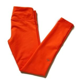 Alo Yoga Leggings Ltd Ed Neon Orange Airbrush